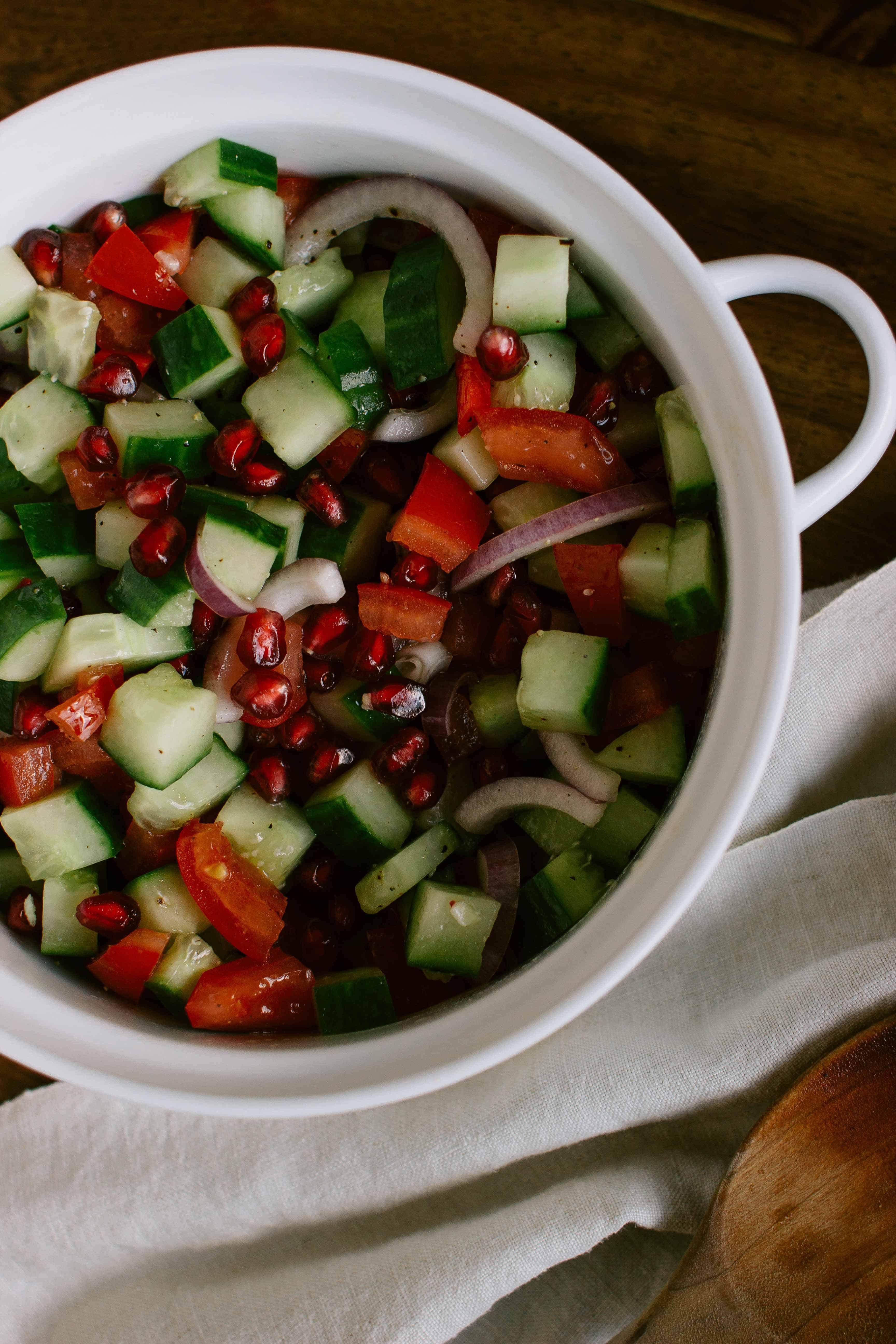 cucumber pomegranate salad-6
