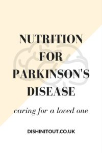 this article has great info on nutrition for parkinson's disease!